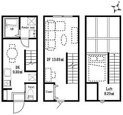 ハーミットクラブハウス目黒[2階]の間取り