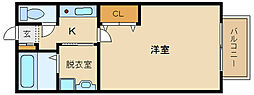 大阪府藤井寺市林4丁目の賃貸アパートの間取り