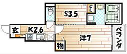 ポルタコスタII B棟[1階]の間取り