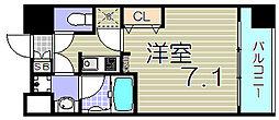 大阪府大阪市福島区玉川2丁目の賃貸マンションの間取り