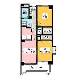 福岡県福岡市東区原田3丁目の賃貸マンションの間取り