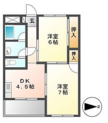 第2三鈴ビル[3階]の間取り