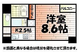 モナトリエ 小倉平和通り[7階]の間取り