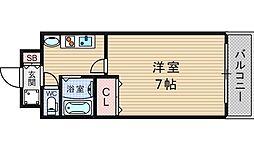 YAHATA西長堀[10階]の間取り