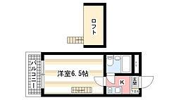 奈良県奈良市大安寺5丁目の賃貸マンションの間取り