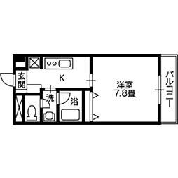 大分県大分市上野丘西2丁目の賃貸マンションの間取り