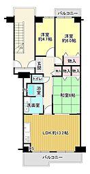 間取り(3LDK・5階部分のお部屋です。平成30年5月室内リフォーム済です。)