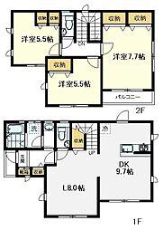 深大寺東町プレミアムハウス 1階3LDKの間取り