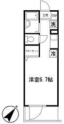 リンクス赤塚新町[104号室]の間取り