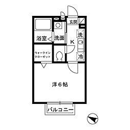 神奈川県川崎市川崎区元木2丁目の賃貸アパートの間取り