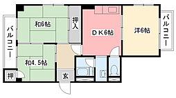 阪神甲子園住宅[203号室]の間取り