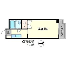 ドエル下鴨[1階]の間取り