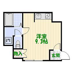 小菅2丁目貸家[1号室]の間取り