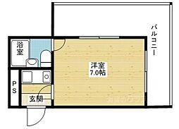 グロースハイツ東三国[4階]の間取り