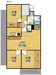 オリオノハイムII[3階]の間取り