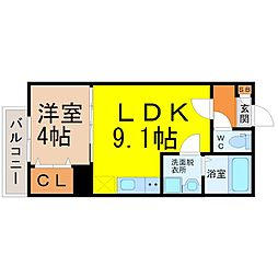 愛知県名古屋市守山区鳥神町の賃貸アパートの間取り