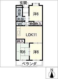 愛知県名古屋市東区白壁3丁目の賃貸マンションの間取り