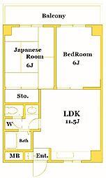新横浜ミユキマンション[3階]の間取り