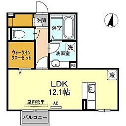 D-room平成大学[2階]の間取り