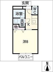下東野コーポ III[1階]の間取り