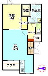 エルドラド411[2階]の間取り