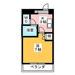 エクセス京命[4階]の間取り