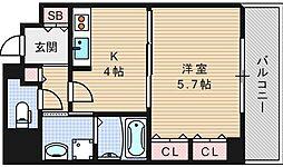 ラミューズコート[703号室]の間取り