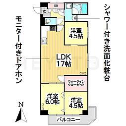 愛知県名古屋市南区東又兵ヱ町1丁目の賃貸マンションの間取り