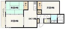 広島県廿日市市城内の賃貸マンションの間取り
