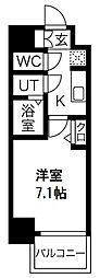 プレサンス京町堀 2階1Kの間取り
