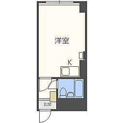 ファミール第2大通[4階]の間取り