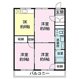 メゾン・ドゥ・セピアII[3階]の間取り