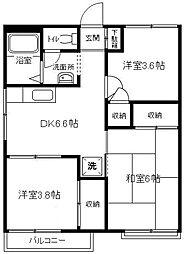 上郷エコーハイツA[202号室]の間取り