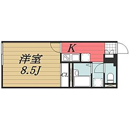 JR成田線 成田駅 バス9分 新木戸下車 徒歩7分の賃貸アパート 1階1Kの間取り