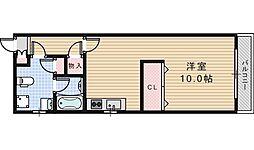 アパルトマン阪南町[402号室]の間取り