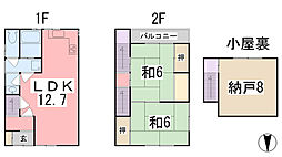 [一戸建] 兵庫県姫路市白国1丁目 の賃貸【兵庫県 / 姫路市】の間取り