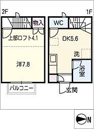 [タウンハウス] 愛知県名古屋市緑区鳴海町字本町 の賃貸【/】の間取り