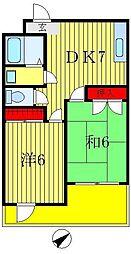 ルナマンション[4階]の間取り