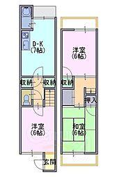 [一戸建] 京都府向日市寺戸町西田中瀬 の賃貸【/】の間取り
