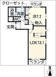 プランドール[4階]の間取り