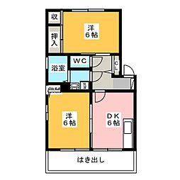 カルティエ弐番館 A棟[1階]の間取り