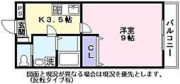 JR東海道・山陽本線 南彦根駅 徒歩30分の賃貸アパート 1階1Kの間取り