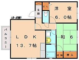 カーサ新宮 B[1階]の間取り