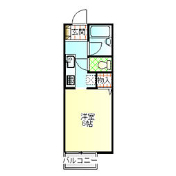 ジョイハウス3号棟[205号室]の間取り