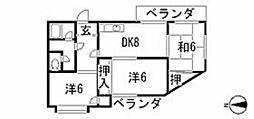 サニーハイツ高須[3階]の間取り