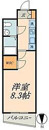 JR総武線 水道橋駅 徒歩5分の賃貸マンション 3階1Kの間取り