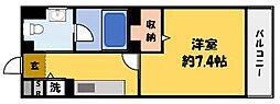 アクロス大日アパートメントII[1階]の間取り