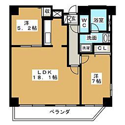 KDX泉レジデンス[6階]の間取り