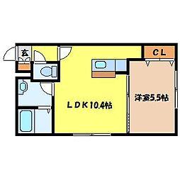 北海道札幌市東区北三十一条東8丁目の賃貸マンションの間取り