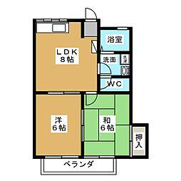 コーポ前平[2階]の間取り